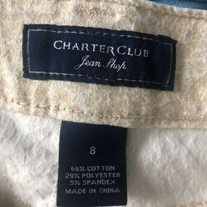 Charter Club Jeans - Charter Club Skinny Ankle Tan White Denim Jeans 8